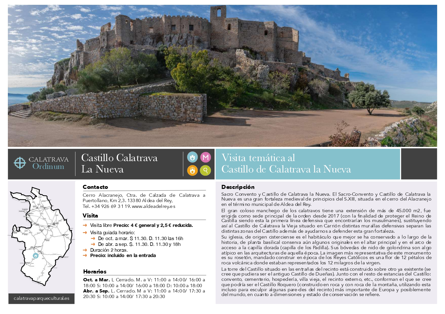 mapa-Castillo de Calatrava la Nueva