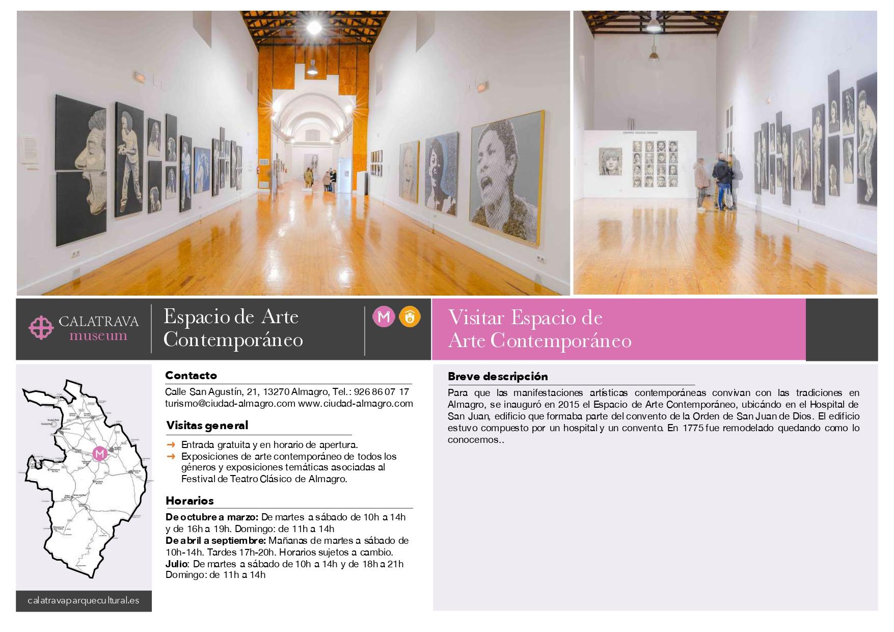 mapa-Espacio de Arte Contemporáneo