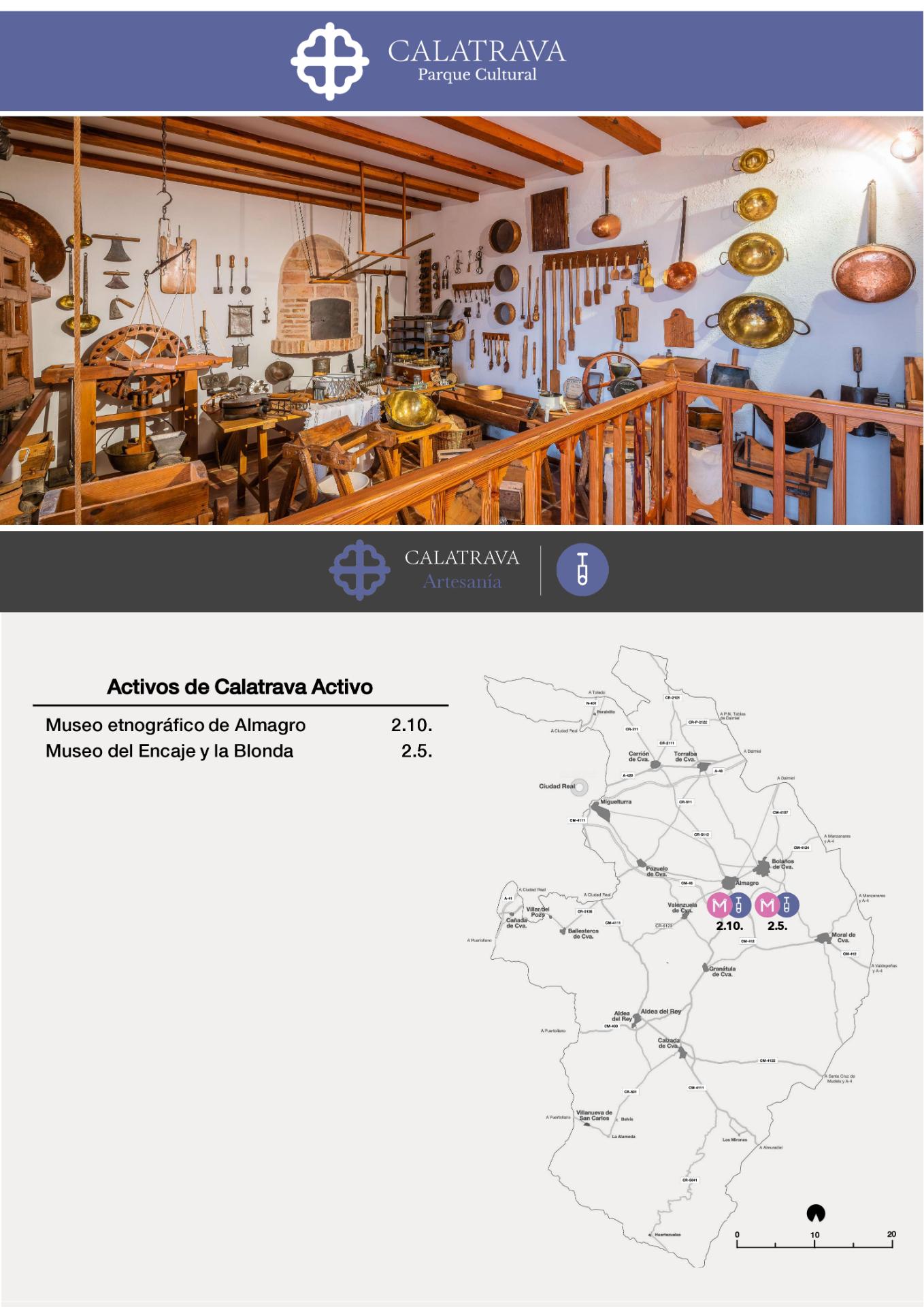 mapa-Calatrava Artesanía