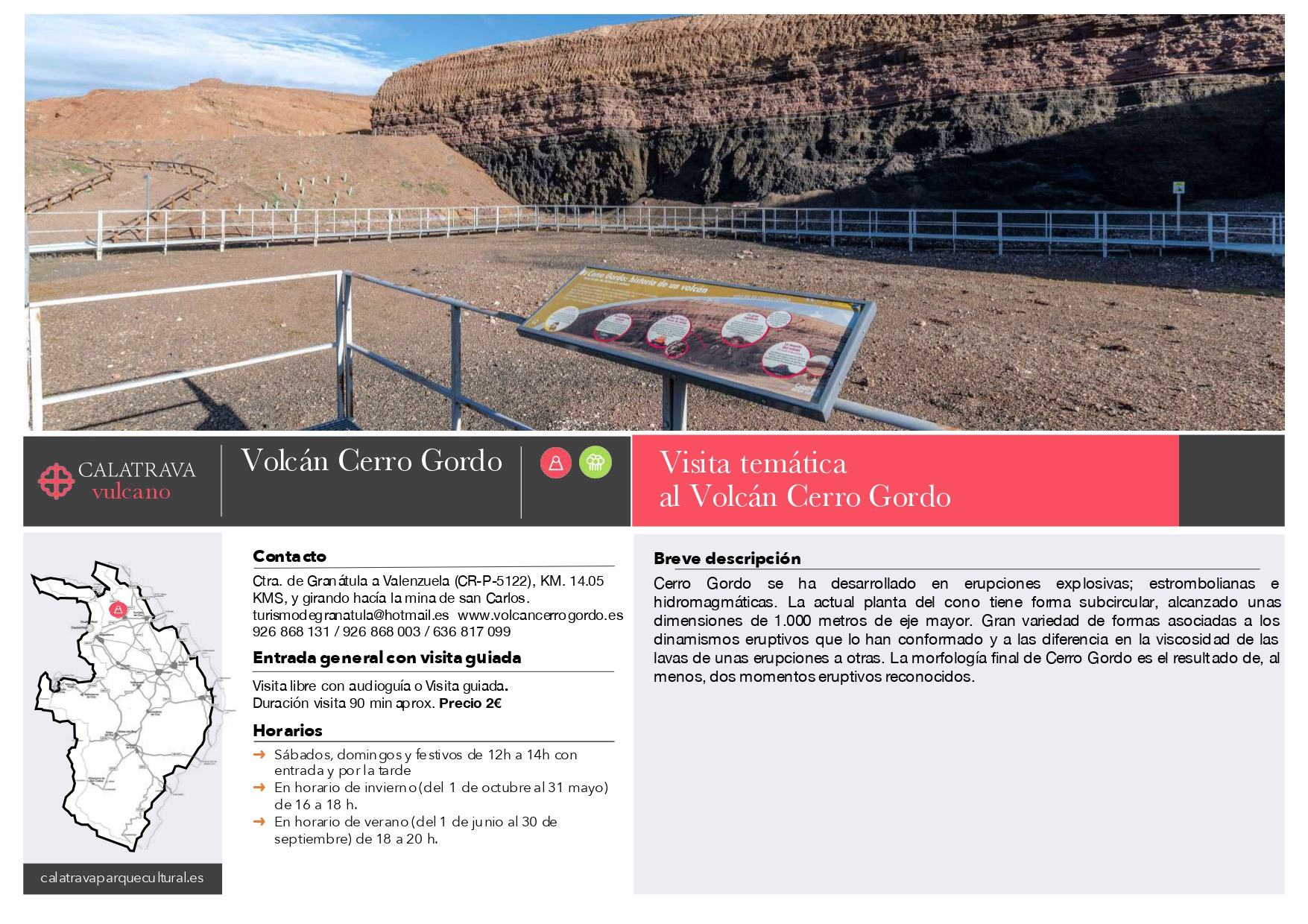 mapa-Volcán Cerro Gordo