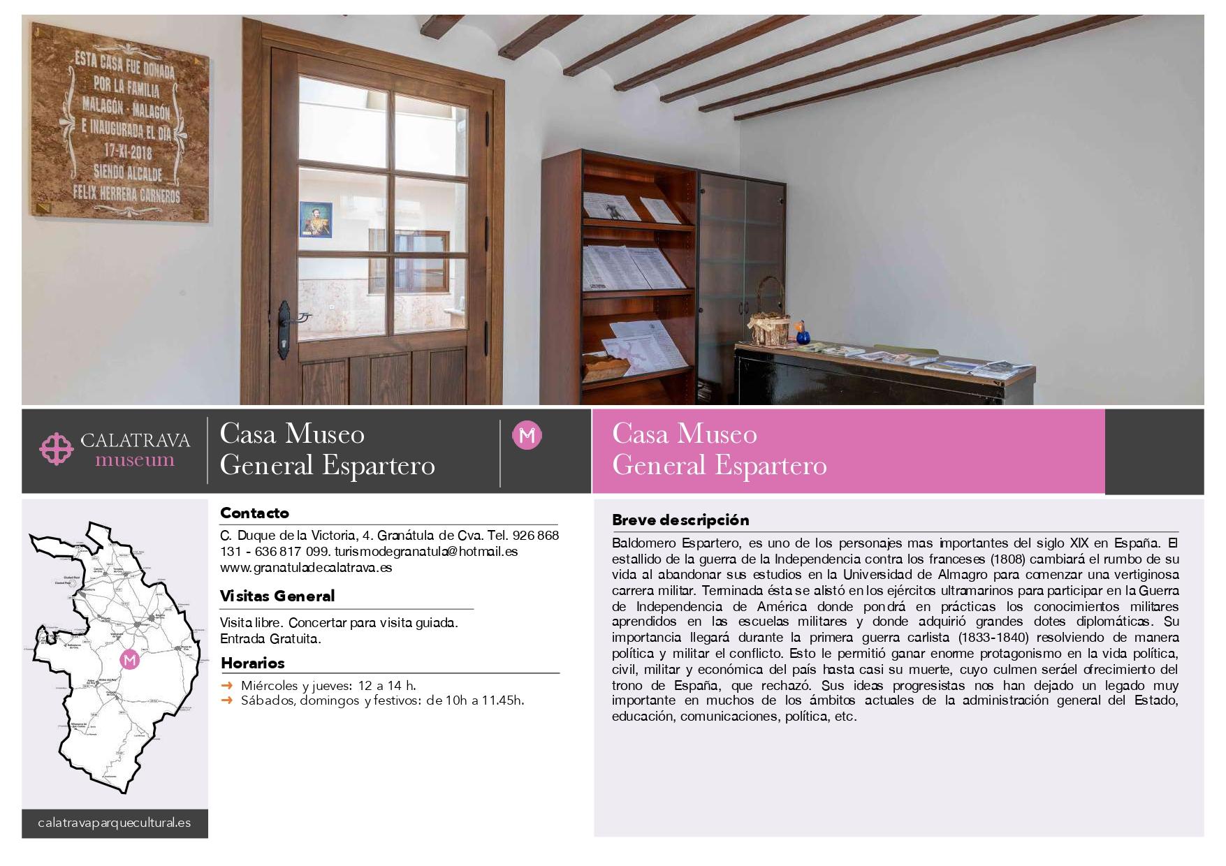 mapa-Casa-Museo del General Espartero