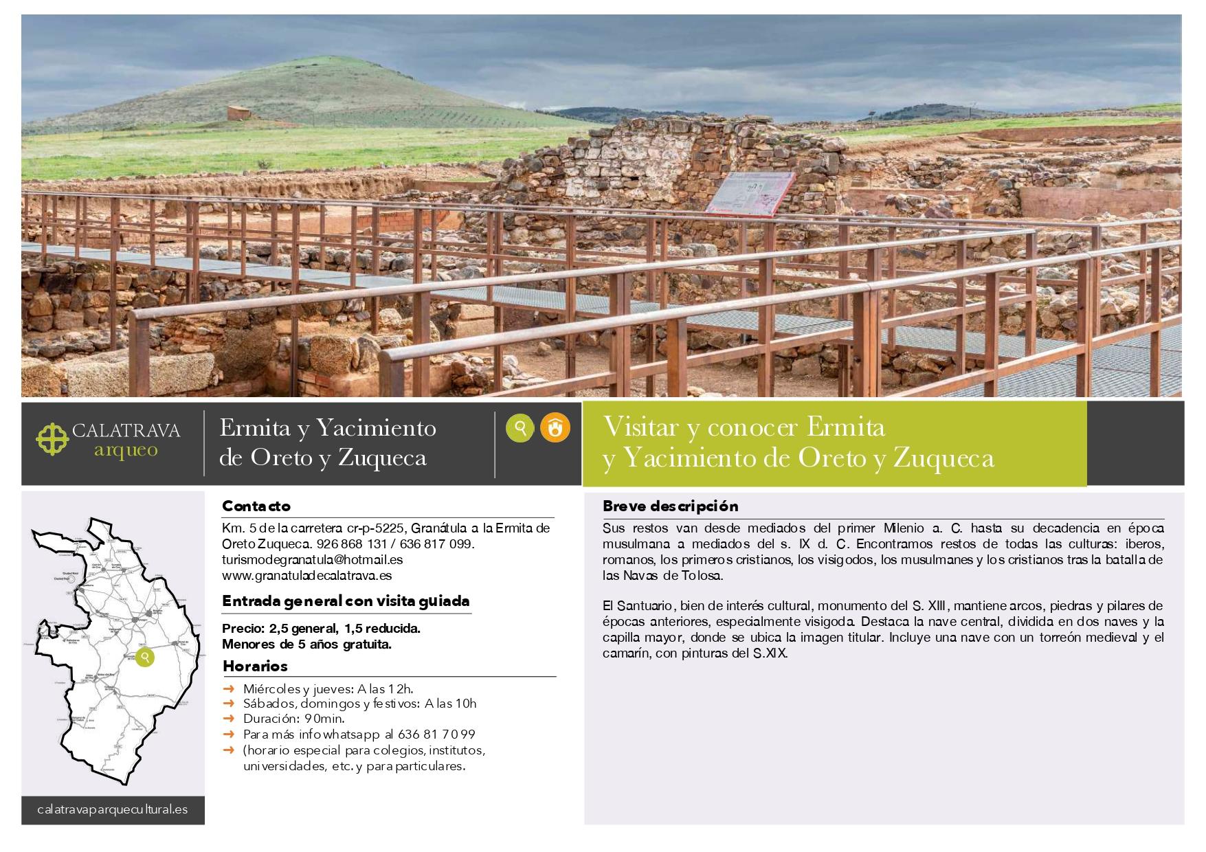 mapa-Ermita-Yacimiento Oreto y Zuqueca