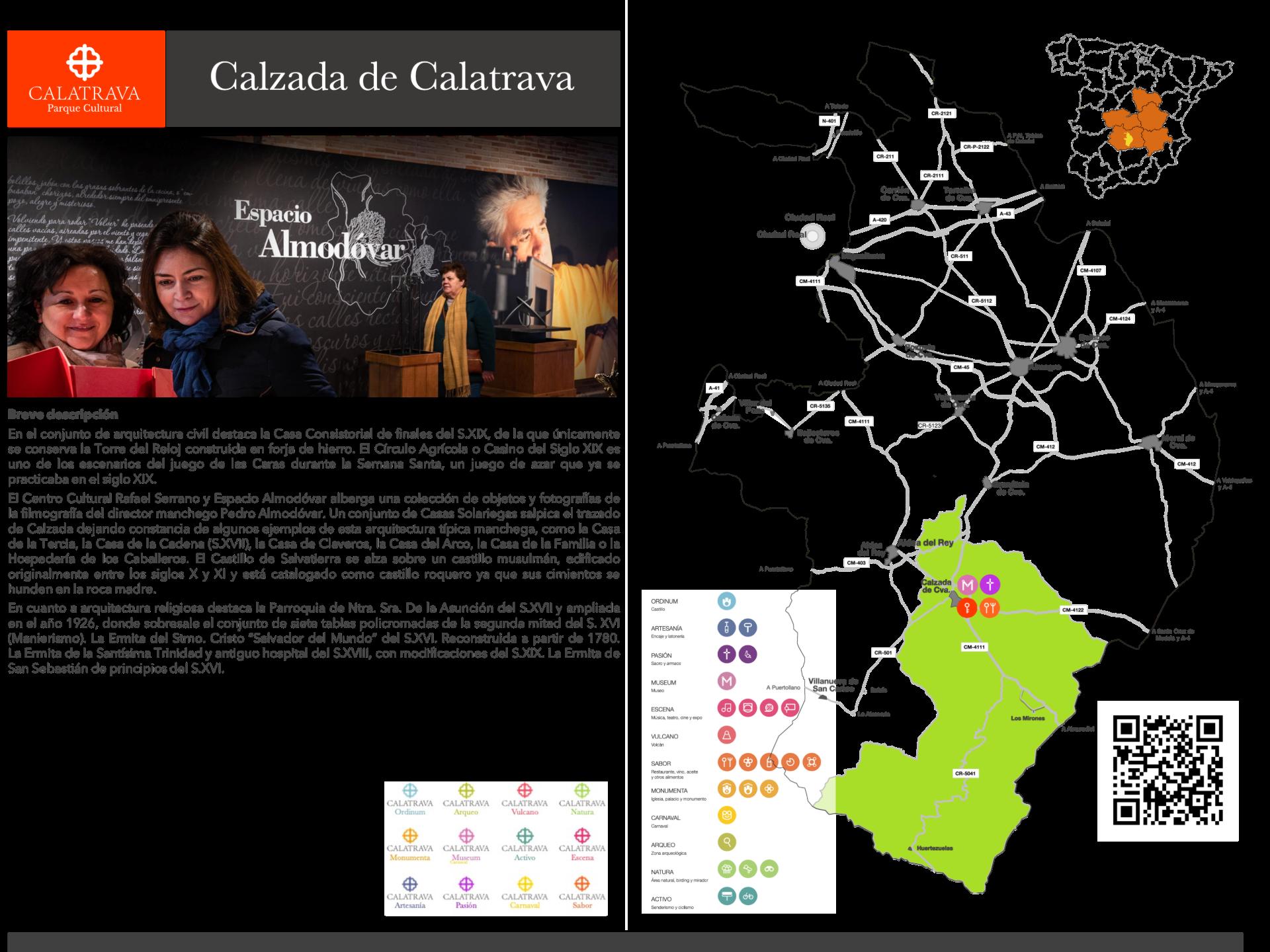 mapa-Calzada de Calatrava