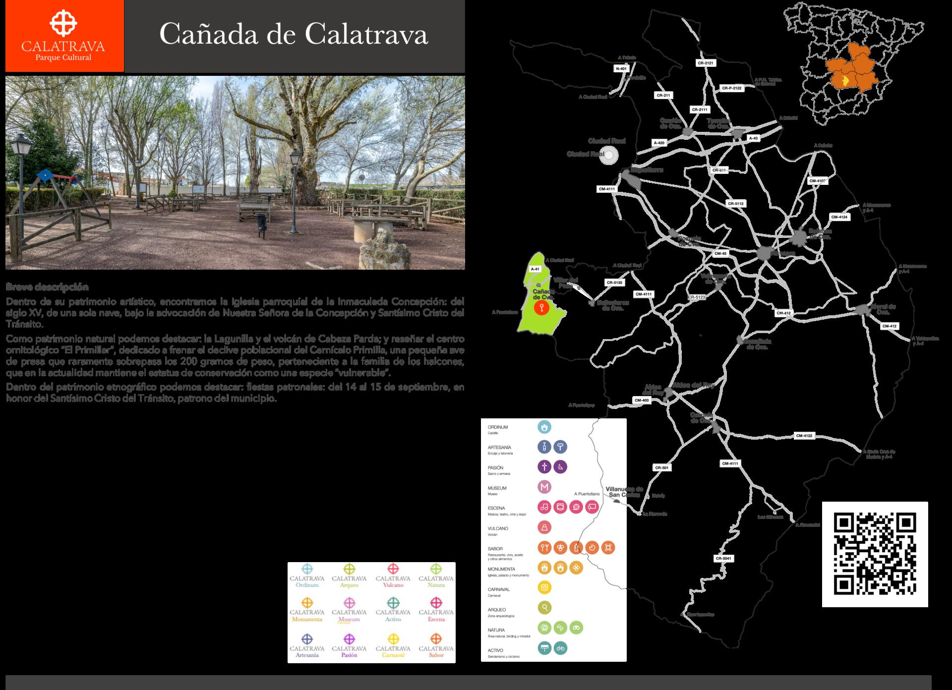 mapa-Cañada de Calatrava