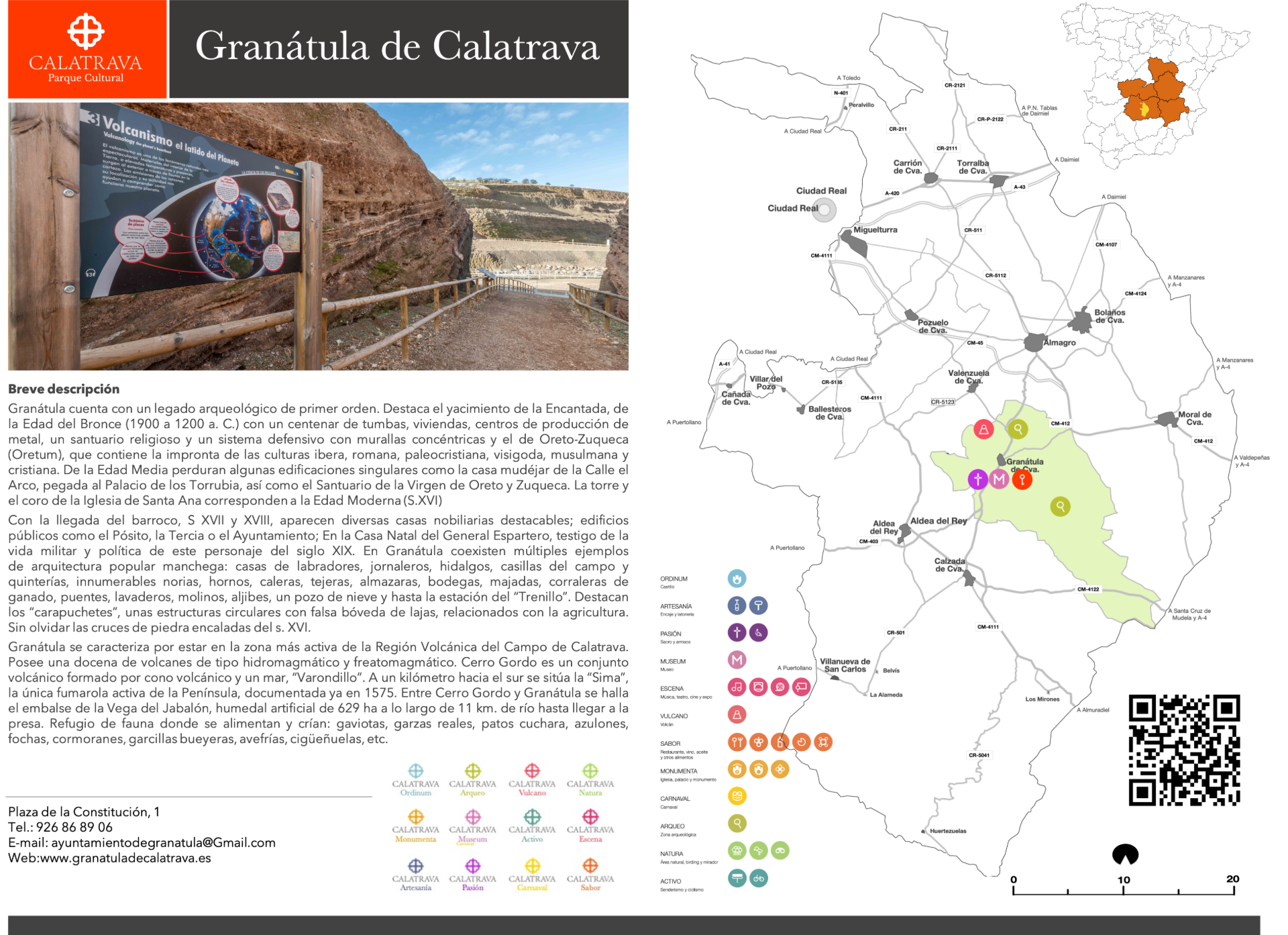 mapa-Granátula de Calatrava